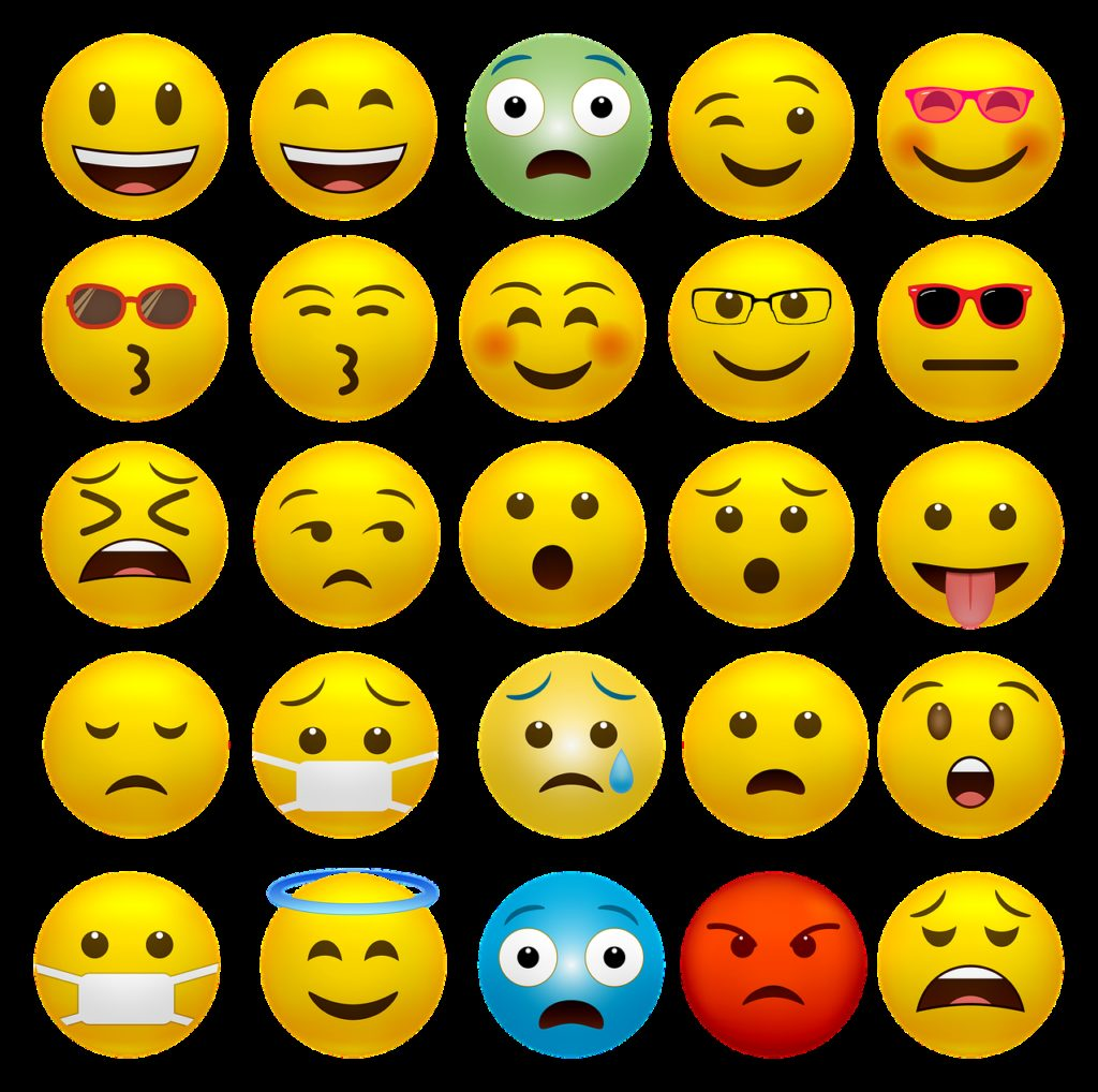 emoticons, happy faces, covid-19 mask