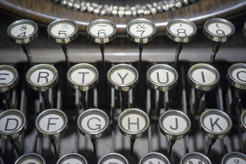 typewriter, buttons, keys,
